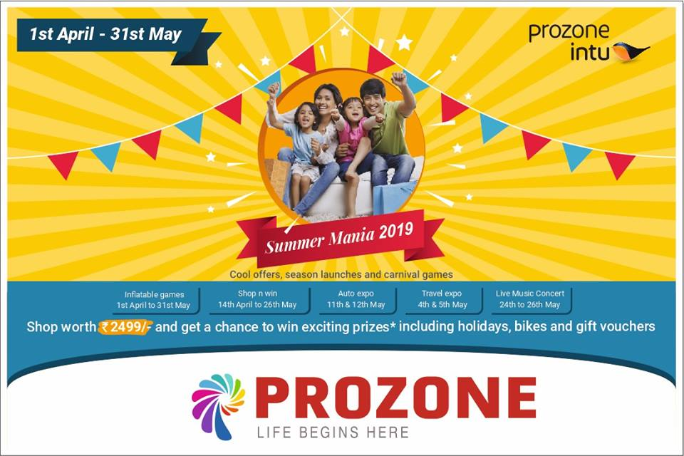 Summer Mania In Prozone Mall, Coimbatore
