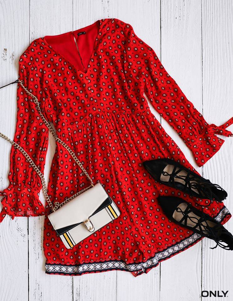 This red romper from ONLY