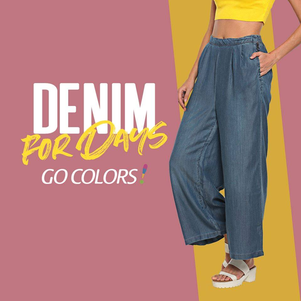 Add a twist to your outfit with our denim palazzos