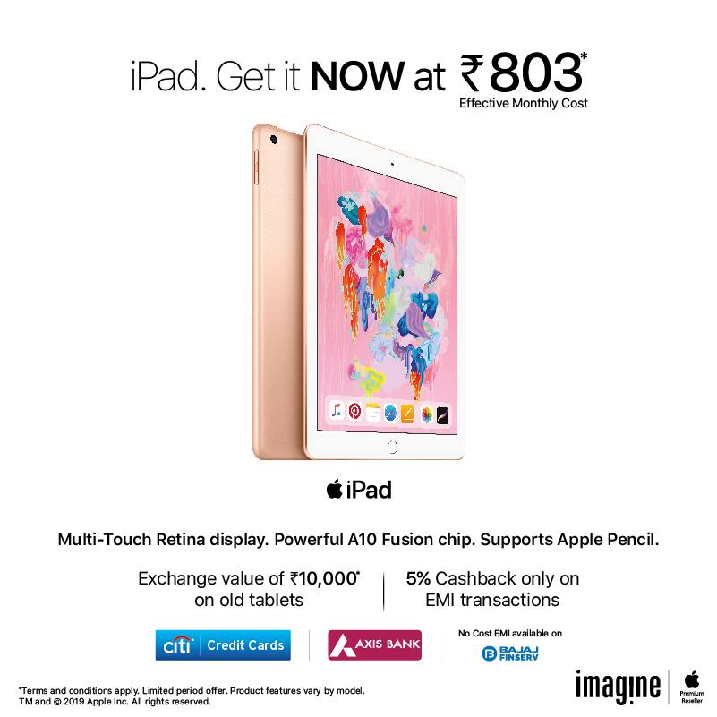 iPad Get it Now at Rs.803*