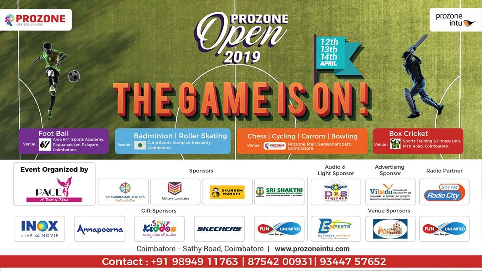 Prozone open 2019 - THE GAME IS ON!